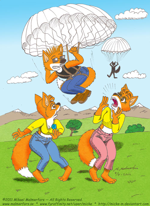 Pic 91 - How to use a parachute to annoy your cousins!